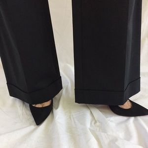 Banana Republic Black Wide Leg Cuff Pants